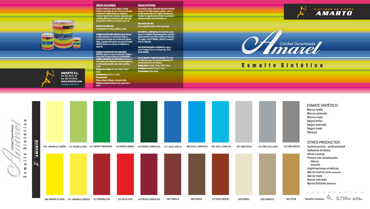 Pinturas amarto for Pinturas bruguer colores